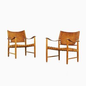 Deutsche Mid-Century Stühle, 2er Set