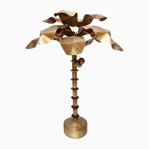 Vintage Banana Palm Tree Floor Lamp