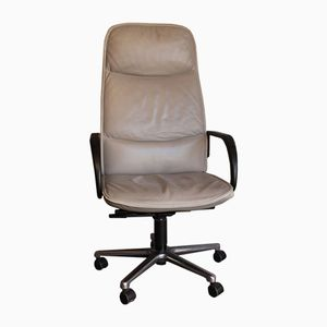 grey leather office chair from frscher - Gray Leather Office Chair