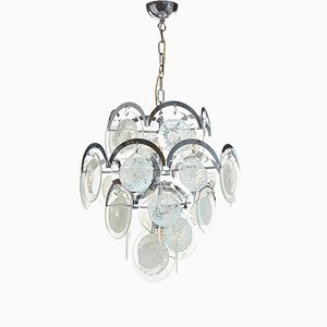 Large Glass Chandelier from Vistosi, 1960