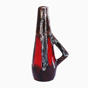 Vase en Céramique avec Poignée de Vallauris, 1950s