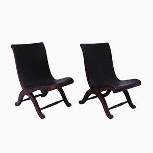 Slipper Sessel von Pierre Lottier für Valenti, 1940er, 2er Set