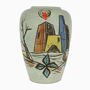 Expressionistische Vase von Scheurich, 1950er