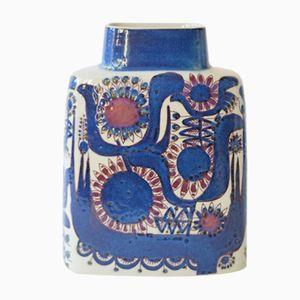 Dänische Mid-Century Vase in Kissenform von Berte Jessen für Royal Copenhagen