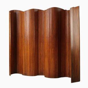 Paravento Mid-Century in legno pieghevole per Baumann, anni '50