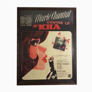 Framed French Marie Chantal Contre Le Dr Kha Cinema Poster, 1960s