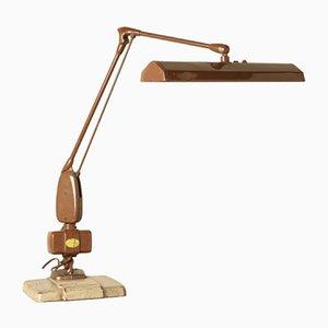 Industrielle Braue Vintage Schreibtischlampe von Weisz Antwerpen