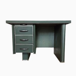 Mid-Century French Metal Desk, 1950s