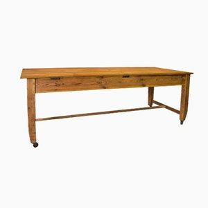 Vintage Pine Workbench on Castors