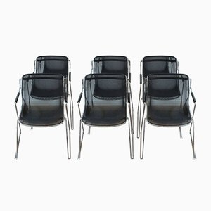 Penelope Stacking Armchairs by Charles Pollock for Castelli, 1984, Set of 6