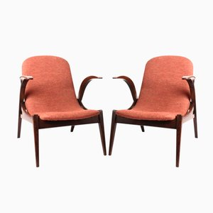 Vintage Small Armchairs, Set of 2