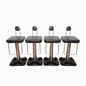 Vintage Birillo Bar Stools by Joe Colombo for Zanotta, Set of 4