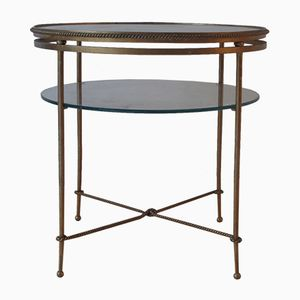 French Side Table with Leaf Pattern, 1950s