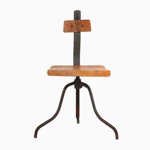 Czech Industrial Swivel Chair, 1960s