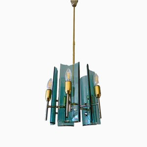 Italian Glass Pendant from Cristal Arte, 1960s