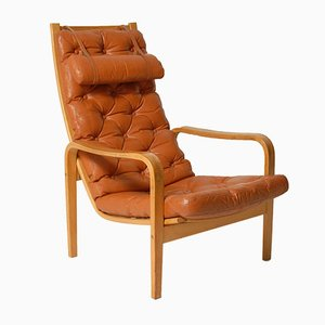 Vintage Brown Leather Easy Chair