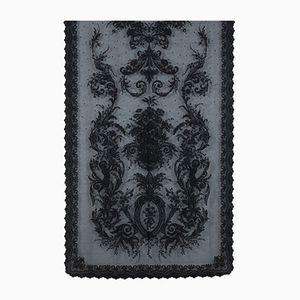 Schwarzer Vintage Wandbehang