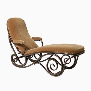 Chaise longue in legno curvato di Thonet