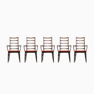 Danish Dining Chairs by Niels Koefoed, Set of 7