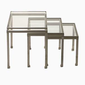 Nesting Tables by Guy Lefevre for Maison Jansen, 1970s