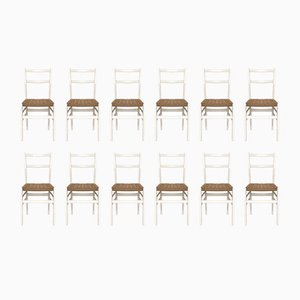 Leggera No. 646 Chairs by Gio Ponti for Cassina, 1952, Set of 12