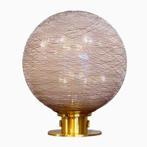 Vintage Ribbed Glass Table Lamp