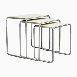 Tubular Steel Nesting Tables, 1930s