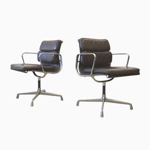 EA207 Alu Soft Pad Office Chairs by Charles & Ray Eames for Herman Miller, 1970s, Set of 2
