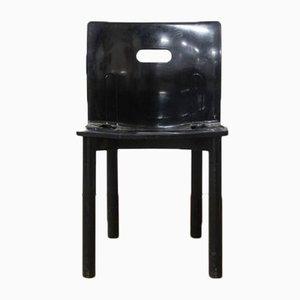 Chaise Empilable 4870 Noire en Plastique par Anna Castelli Ferrieri pour Kartell, 1990s