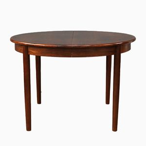Round Danish Rosewood Dining Table, 1960s
