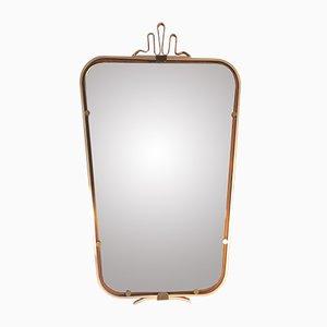 Italian Aluminum & Brass Mirror, 1950s