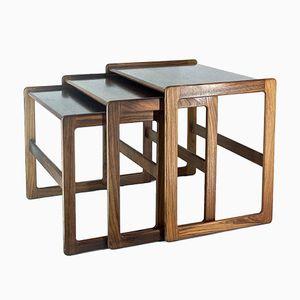 Mid-Century Rosewood Nesting Tables by Arne Hovman-Olsen for Mogens Kold