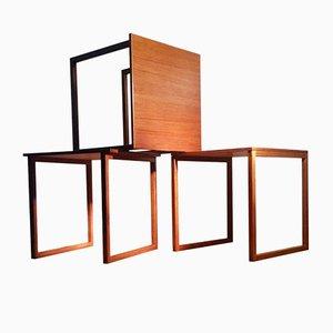 Cube Teak Nesting Tables by Kai Kristiansen for Vildbjerg Møbelfabrik