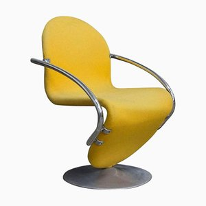 1-2-3 Series Easy Chair in Yellow by Verner Panton, 1973