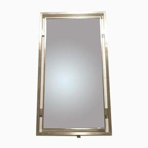 Spiegel mit Rahmen aus Gebürtstem Metall von Guy Lefevre für Maison Jansen, 1970er
