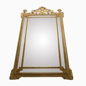 Napoleon III Large Mirror with Parecloses, 1870s