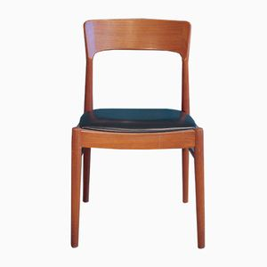 Vintage Danish Teak Chair with Curved Backrest, 1960s