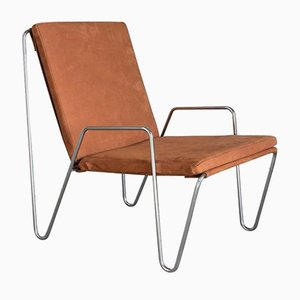 Vintage Bachelor Chair in Suede Leather by Verner Panton for Fritz Hansen