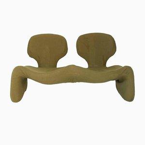 Olivgrünes Vintage Djinn Sofa von Olivier Mourgue für Airborne