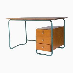 Painted Metal and Wood Desk, 1930s