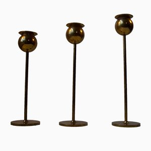 Mid-Century Tulip Candlesticks by Pierre Forsell for Skultuna, 1960s, Set of 3