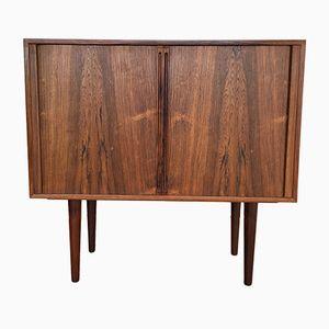 Danish Rosewood Tambour Doors Cabinet by Kai Kristiansen for Feldballes Møbelfabrik