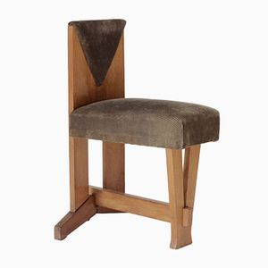Vintage Oak Chair by Laurens Groen for H.H. de Klerk & Zoonen, 1924