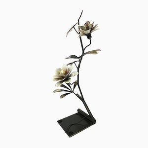 Vintage Metal Flower Branch Floor Lamp