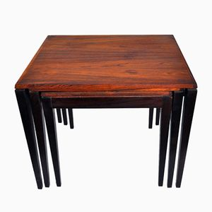 Danish Rosewood Nesting Tables, 1970s
