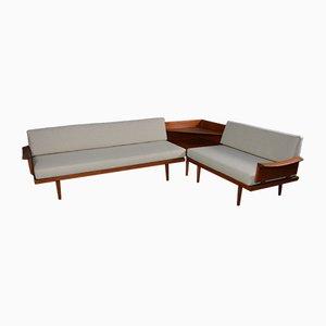 Canapé en Teck par Tove & Edvard Kindt-Larsen pour Gustav Bahus, 1964