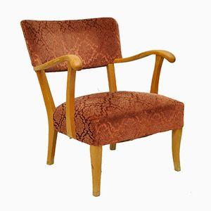 Schwedischer Vintage Birkenholz Sessel