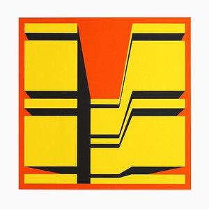 Paravento in seta di Guy Baekelmans, anni '70