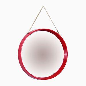 Vintage Danish Red Mirror