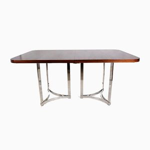 Rosewood and Chrome Dining Table by Richard Young for Merrow Associates, 1960s